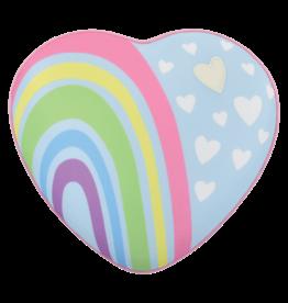Pastel Rainbow Heart Microbead Pillow