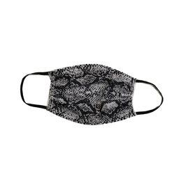 Black/Gray Snake Adult Mask