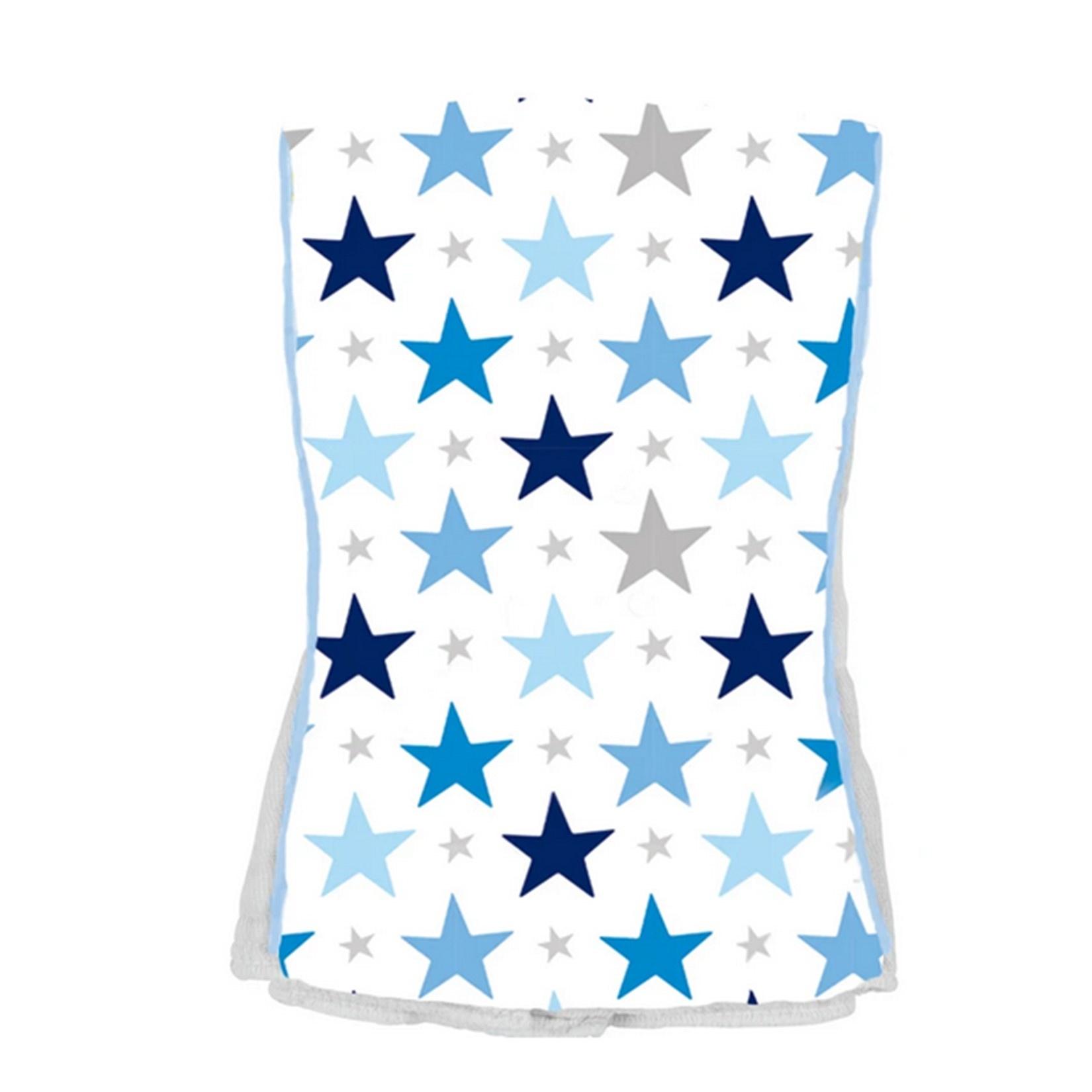 Baby Jar Blue Star Burp Cloth