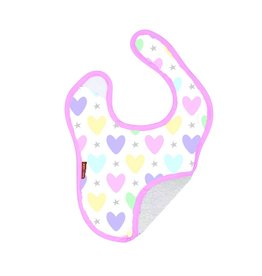 Baby Jar Multi Heart Bib