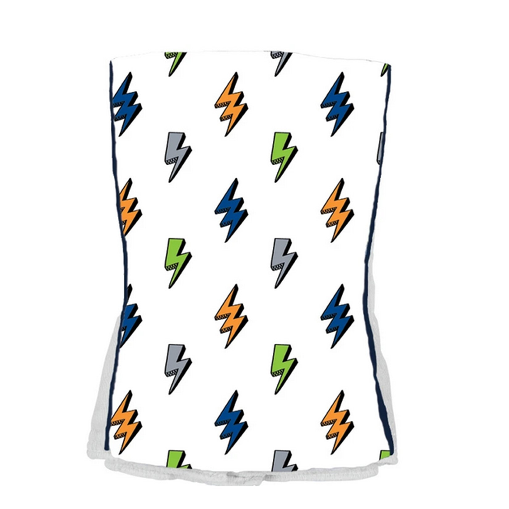 Baby Jar Blue/Green Bolt Burp Cloth