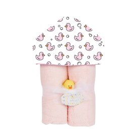 Baby Jar Pink Duck Towel