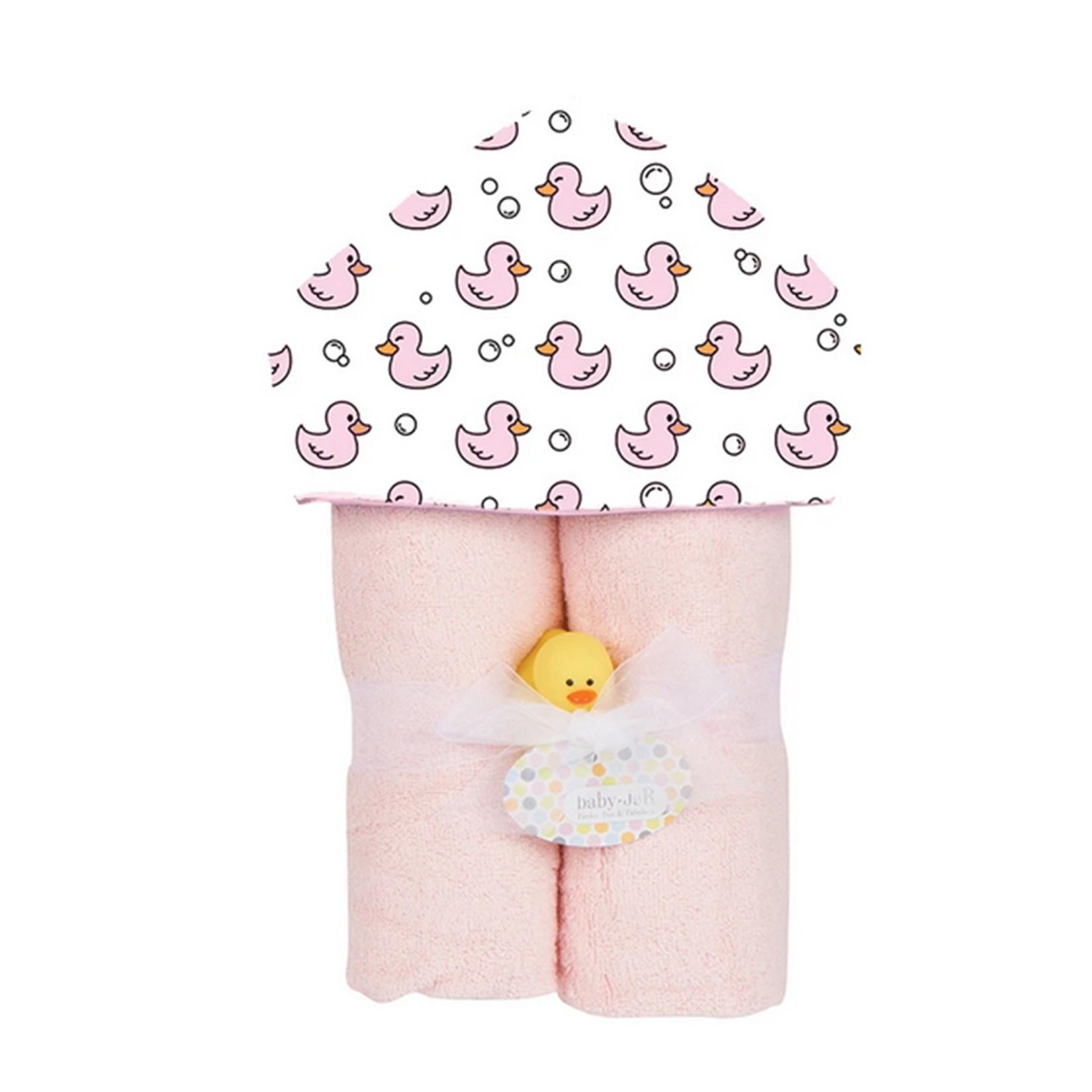 Baby Jar Pink Duck Towel