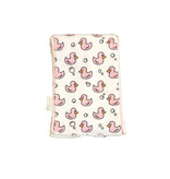 Baby Jar Pink Duck Burp Cloth