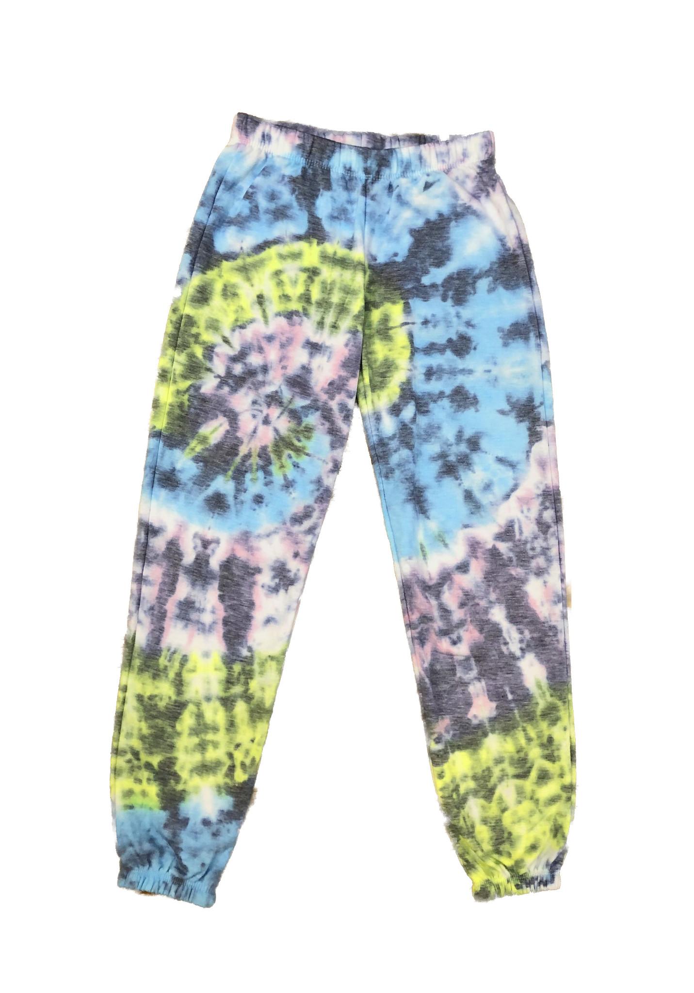 Firehouse Pastel / Grey Tie Dye Sweatpant