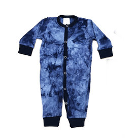 Too Cute Navy Tie Dye Waffle Outfit