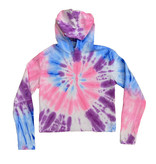 Firehouse New Neon Tie Dye Cropped Hoodie