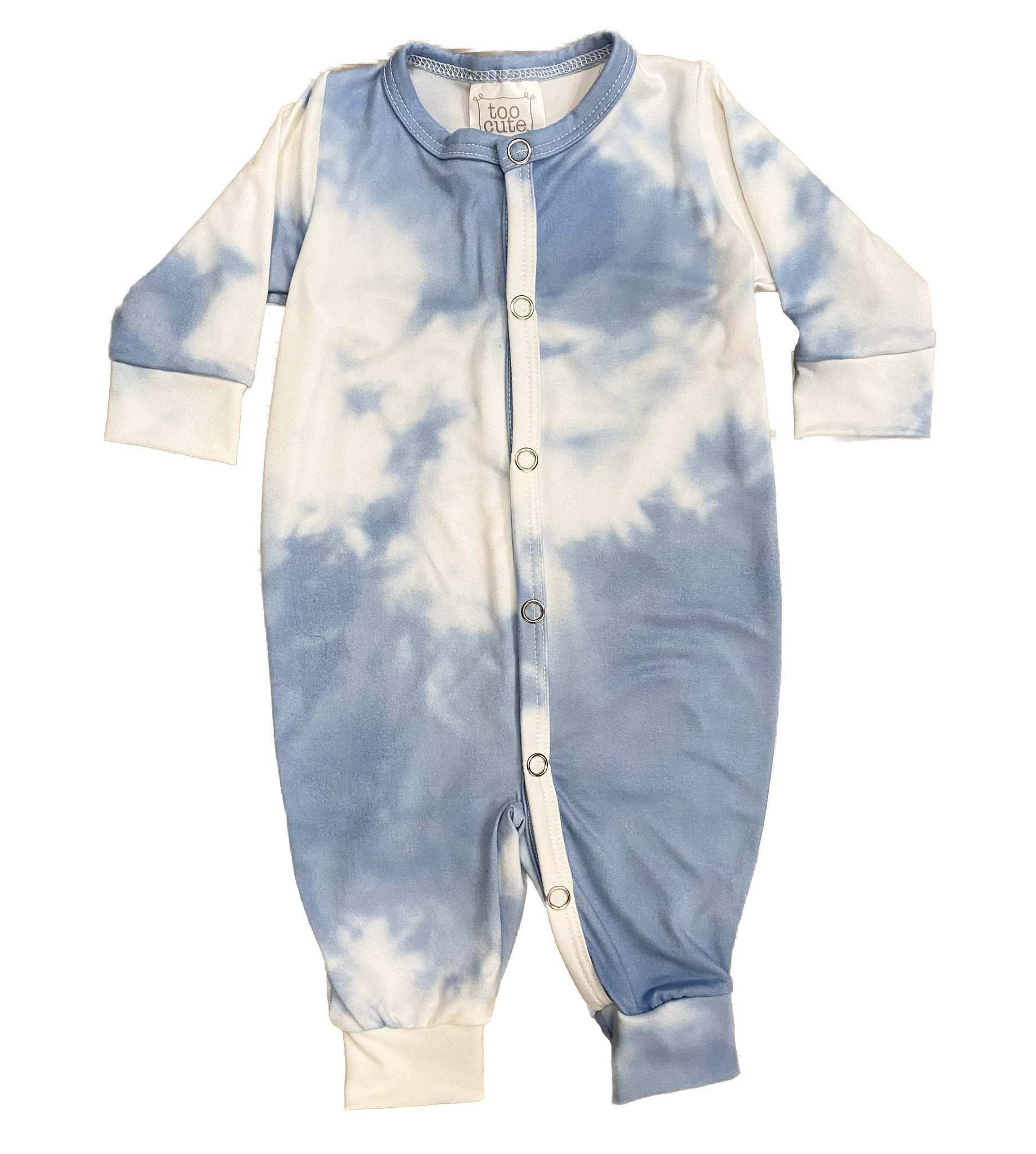 Too Cute Light Blue Tie Dye Outfit