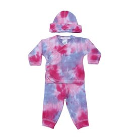 Baby Steps Pink/Purple Tie Dye 3pc Set
