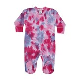 Baby Steps Pink/Purple Tie Dye Footie