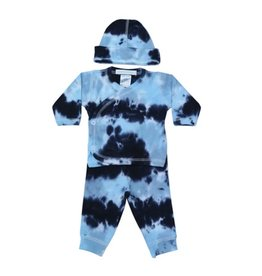 Baby Steps Navy/Light Blue Tie Dye 3pc Set