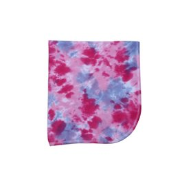 Baby Steps Pink/Purple Tie Dye Blanket