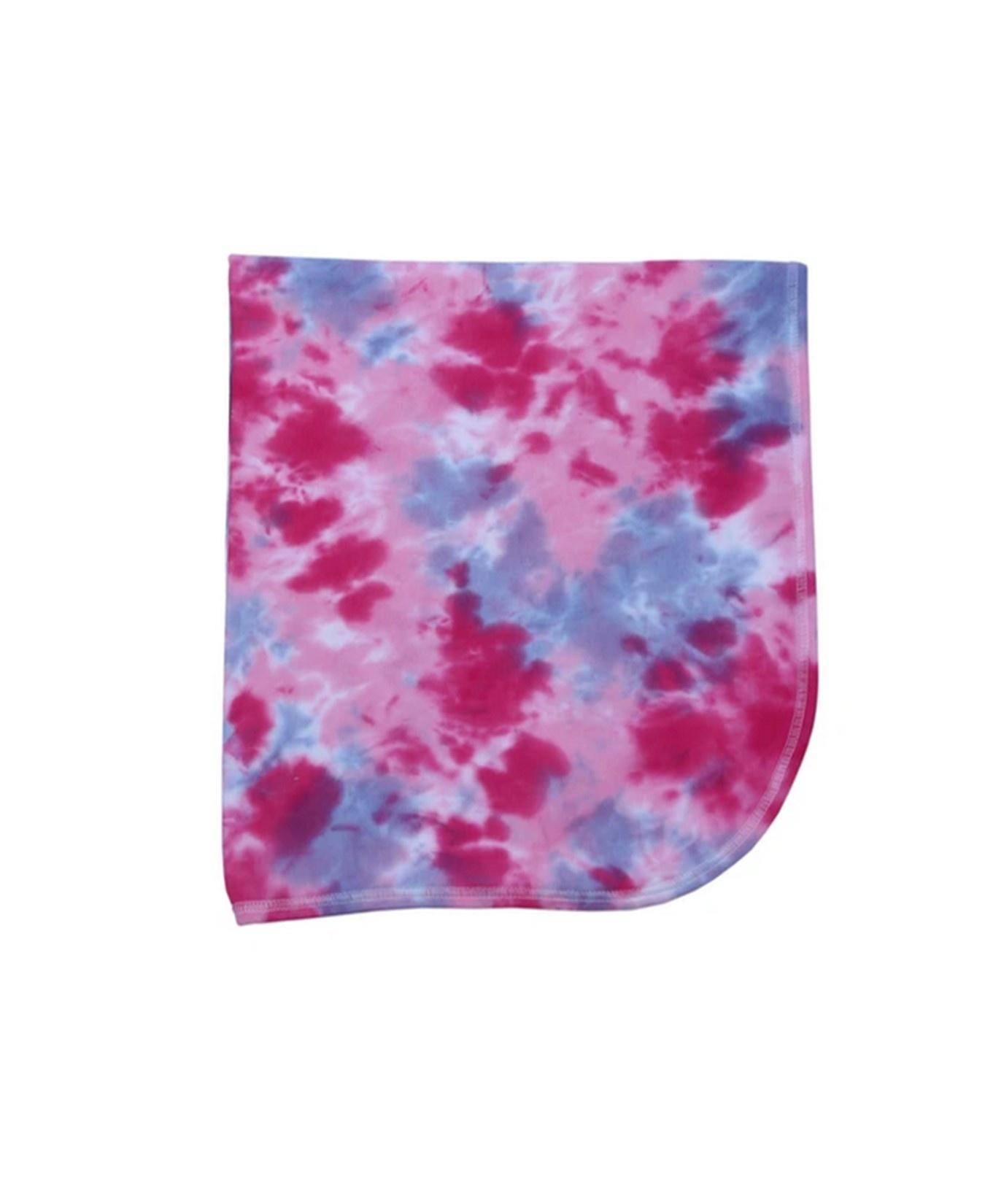 Baby Steps Pink/Purple Tie Dye Blanket