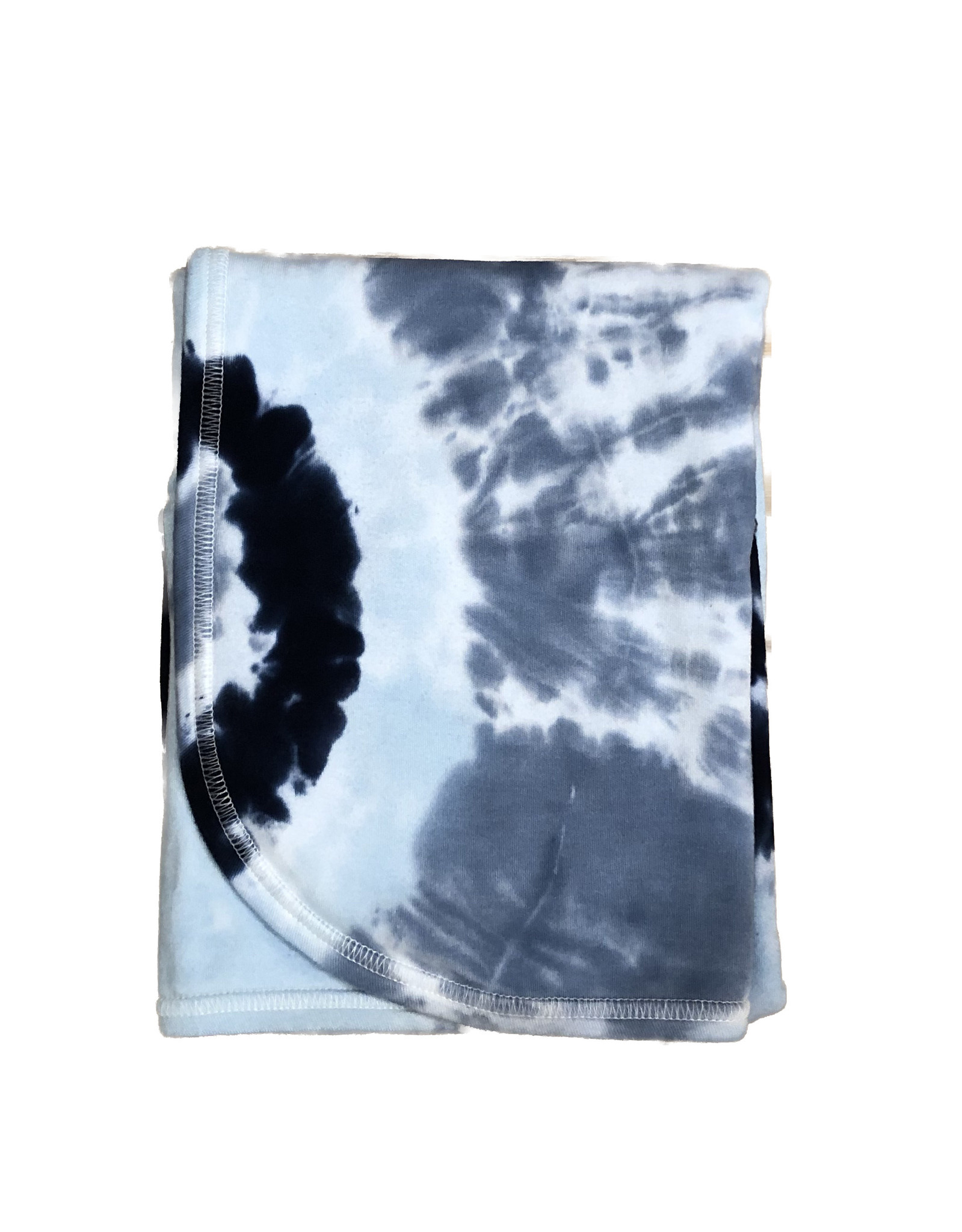 Baby Steps Light Blue/Navy Tie Dye Blanket