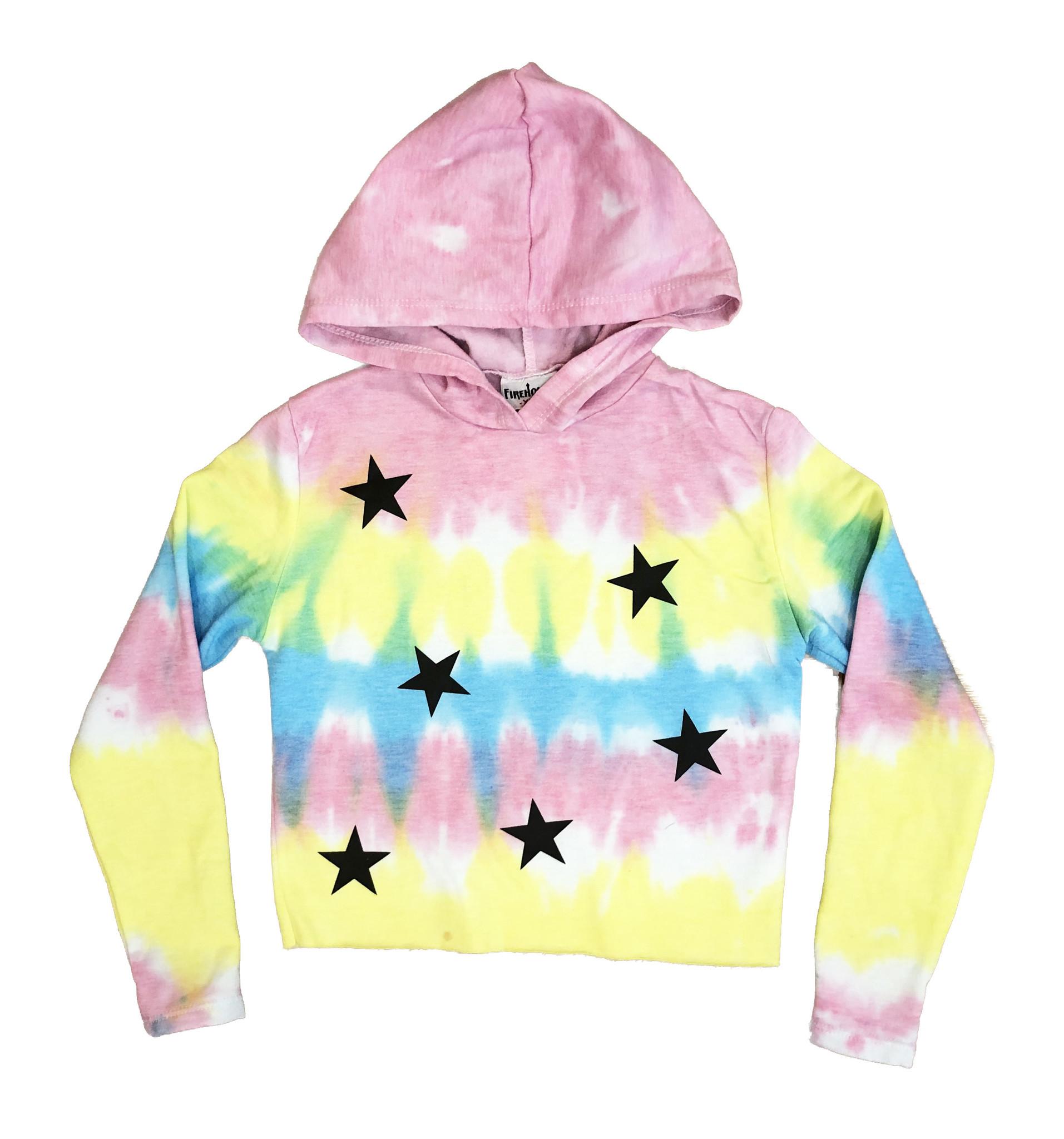 Firehouse Sherbert Tie Dye With Stars Sweatshirt