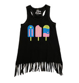 Popsicles Fringed Coverup Dress