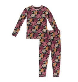 Kickee Pants Fall Flower PJ Set