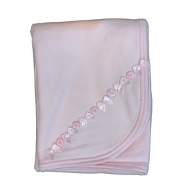 Baby Steps Rosettes Blanket Light Pink