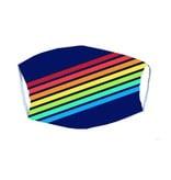 Rainbow Stripes Adult Mask