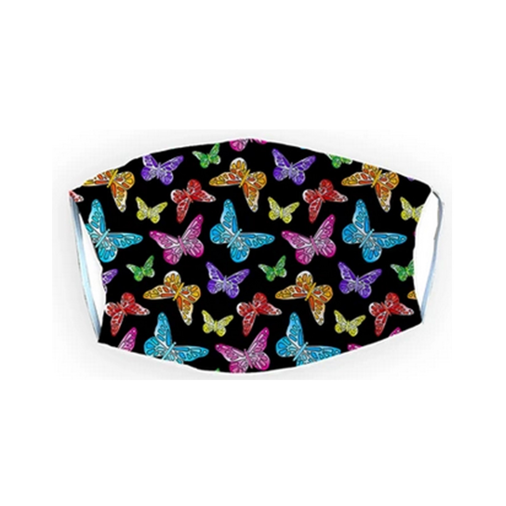 Colorful Butterflies Adult Mask