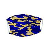 Blue & Yellow Camo Adult Mask