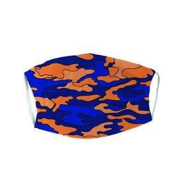Blue & Orange Camo Adult Mask