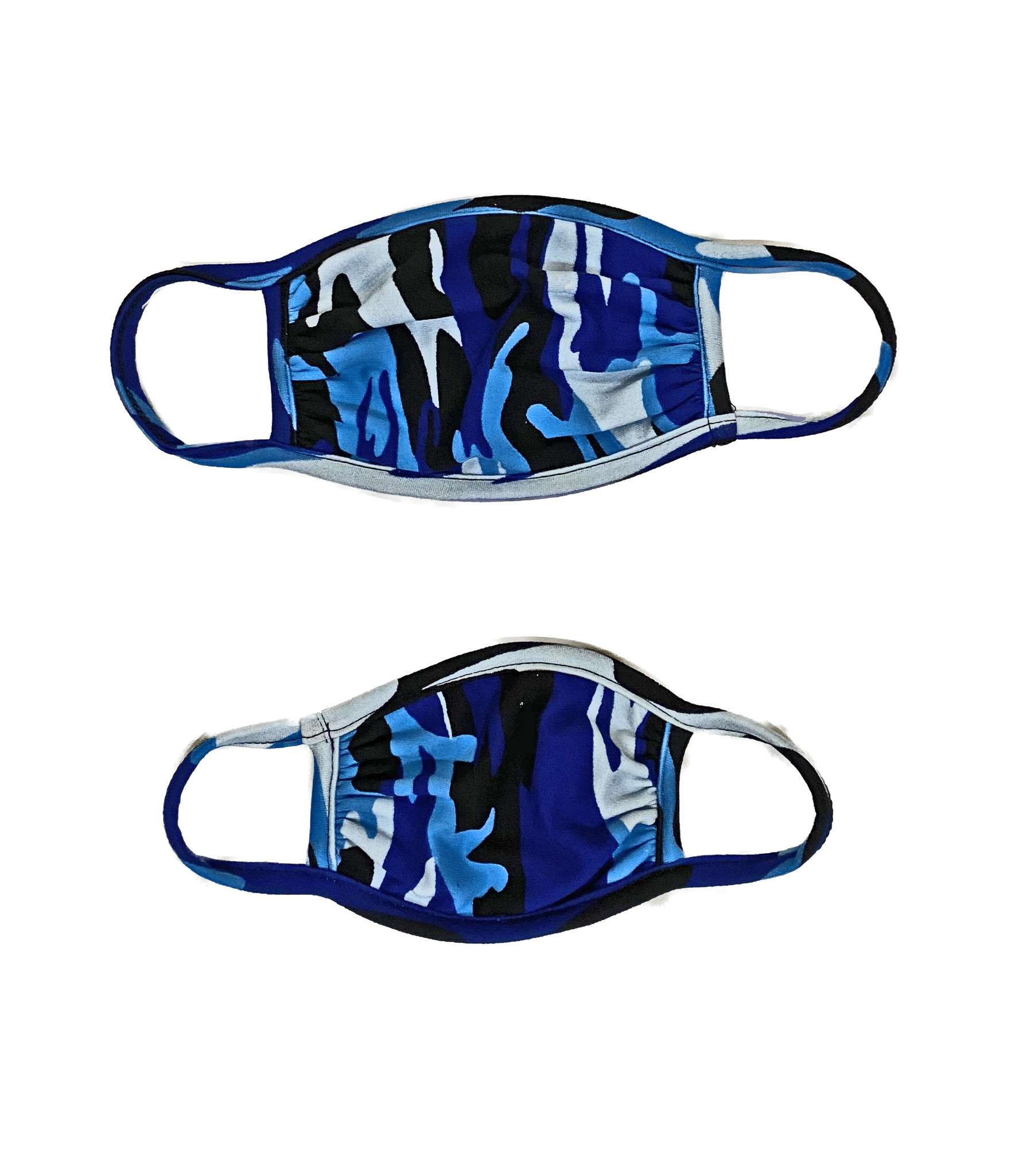 Sofi Blue Camo Mask for Toddler & Kids