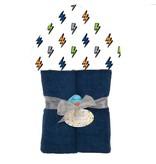 Baby Jar Boy Bolt Hooded Towel