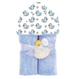 Baby Jar Blue Duck Hooded Towel