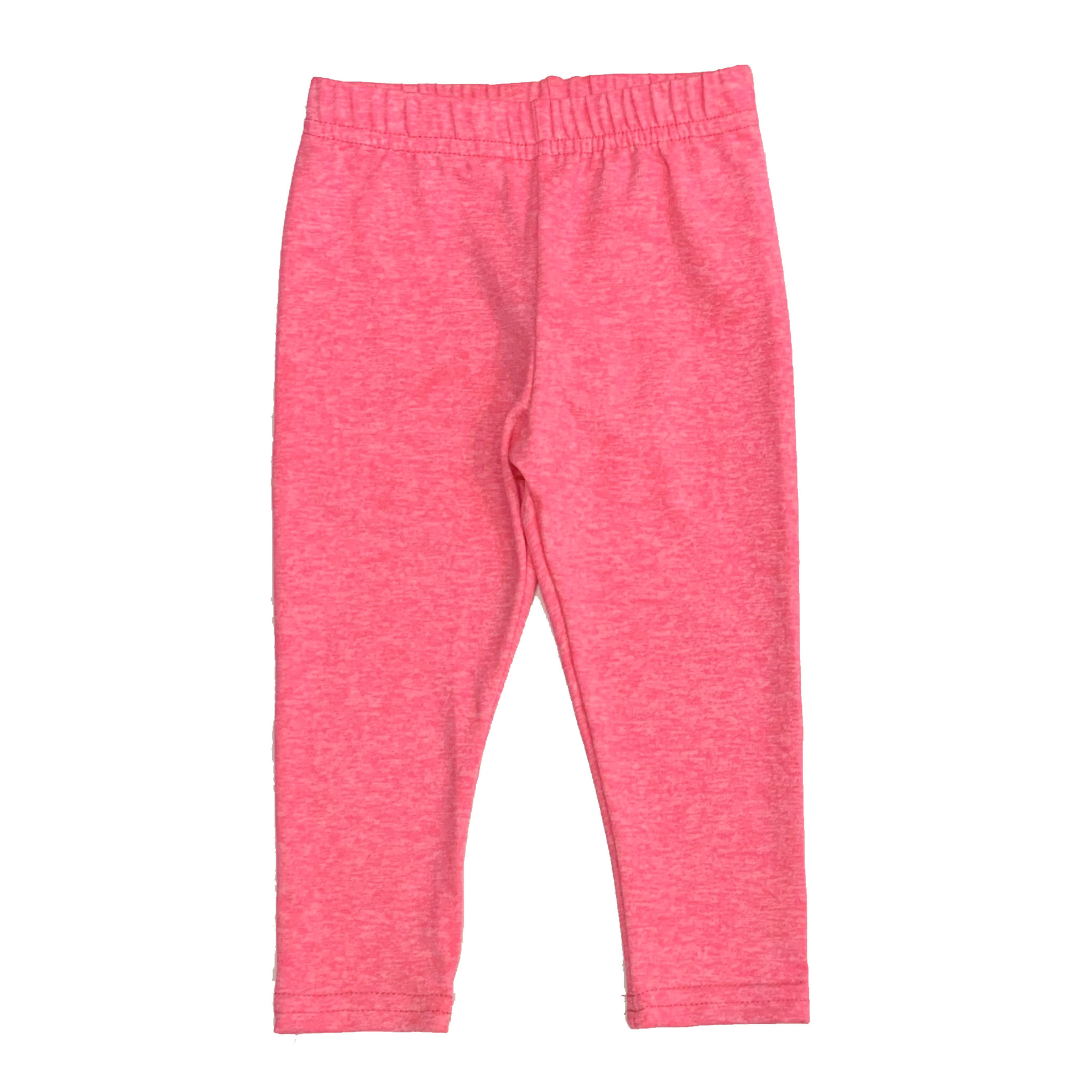 Dori Creations Neon Pink/White Heathered Infant Legging