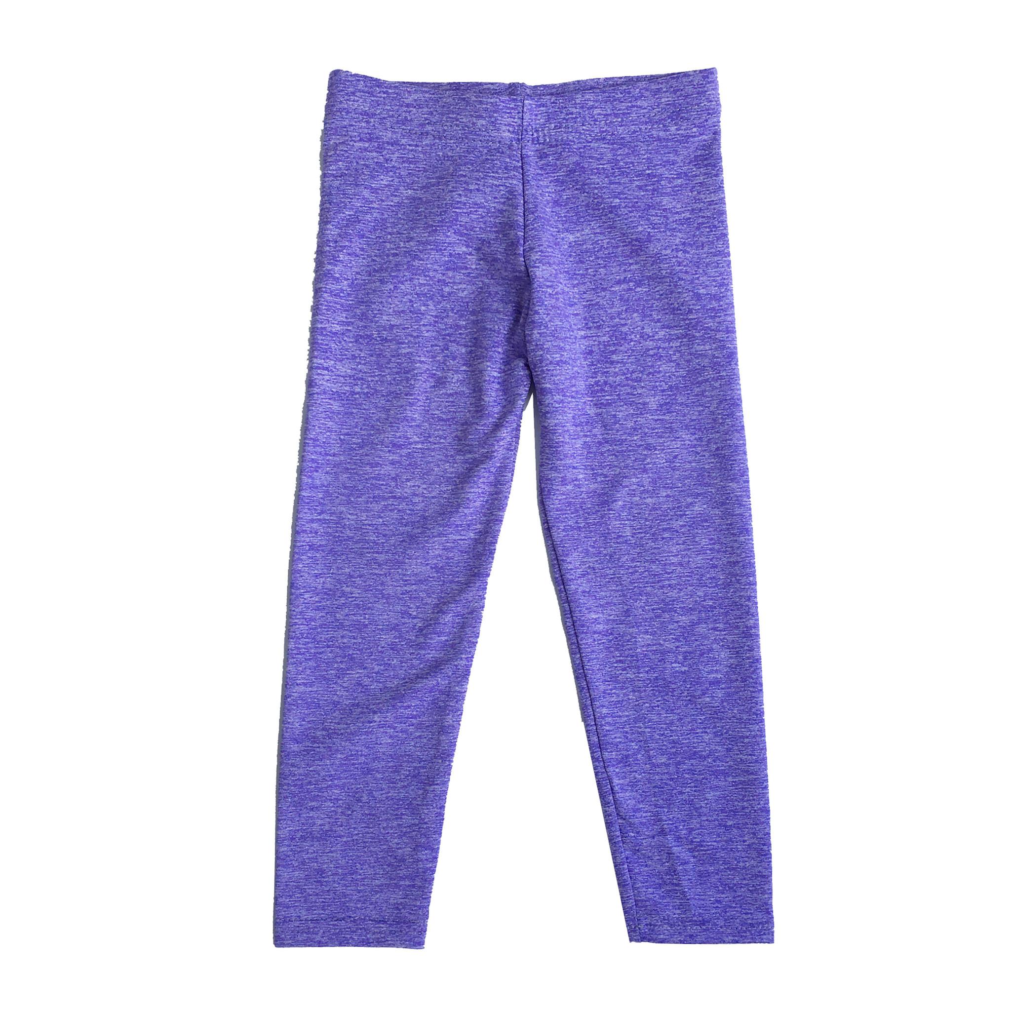 Dori Creations Violet/White Infant Heathered Legging