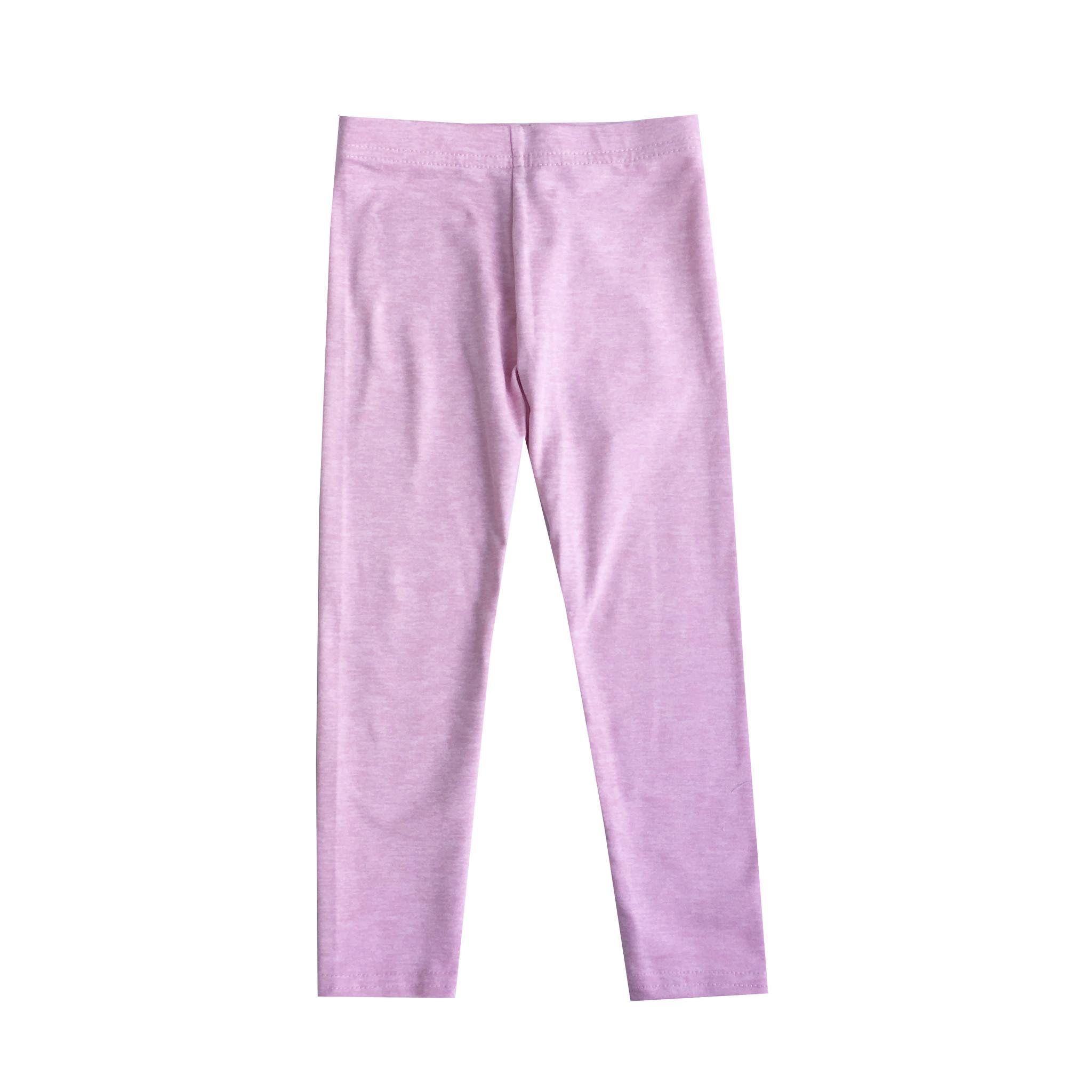 Dori Creations Lt. Pink/White Infant Heathered Legging