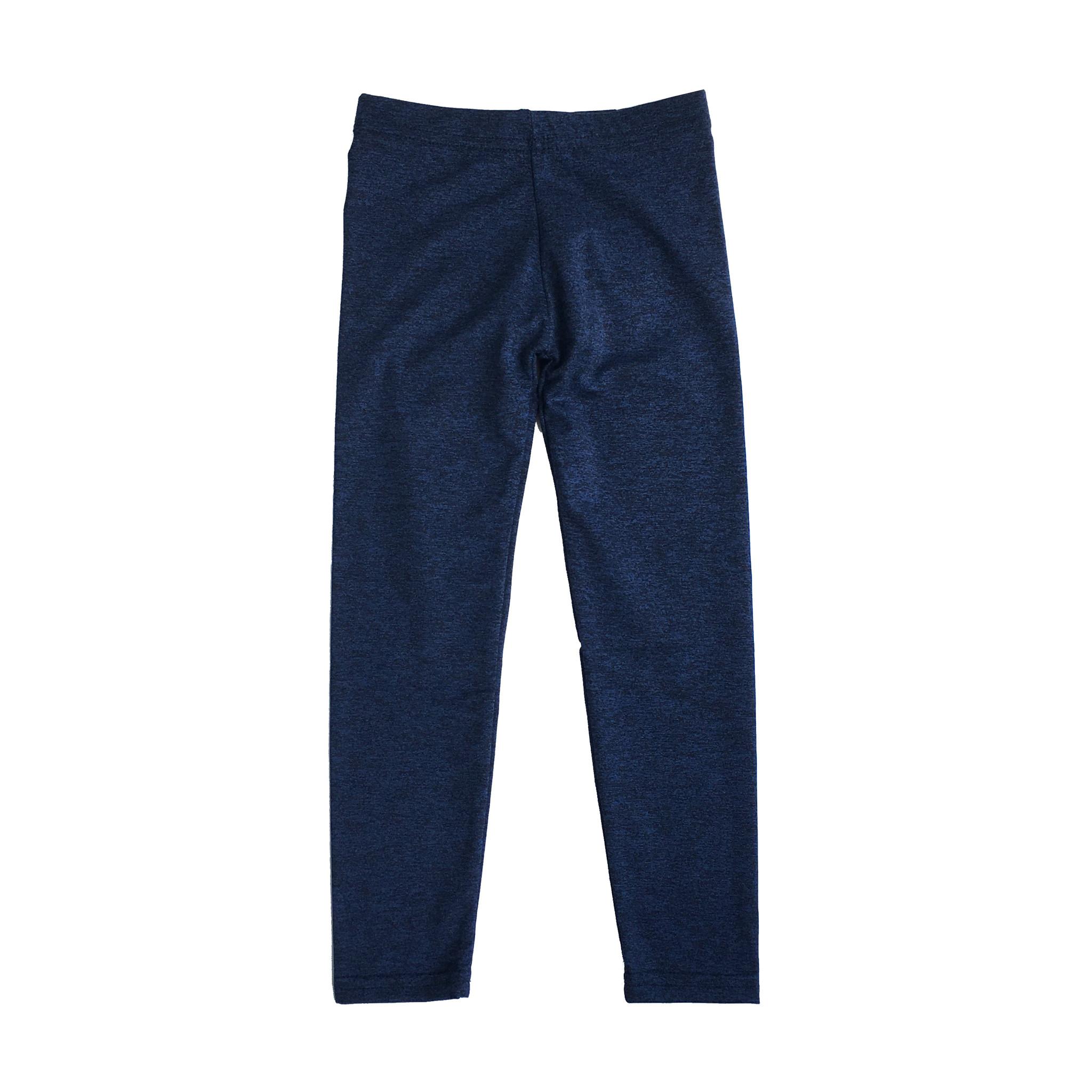 Dori Creations Navy/Black Heathered Junior Legging