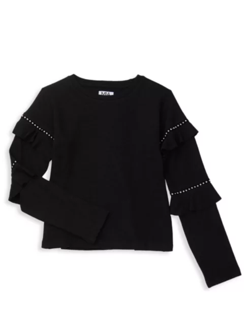 Mia New York Black Sweater With Sleeve Details