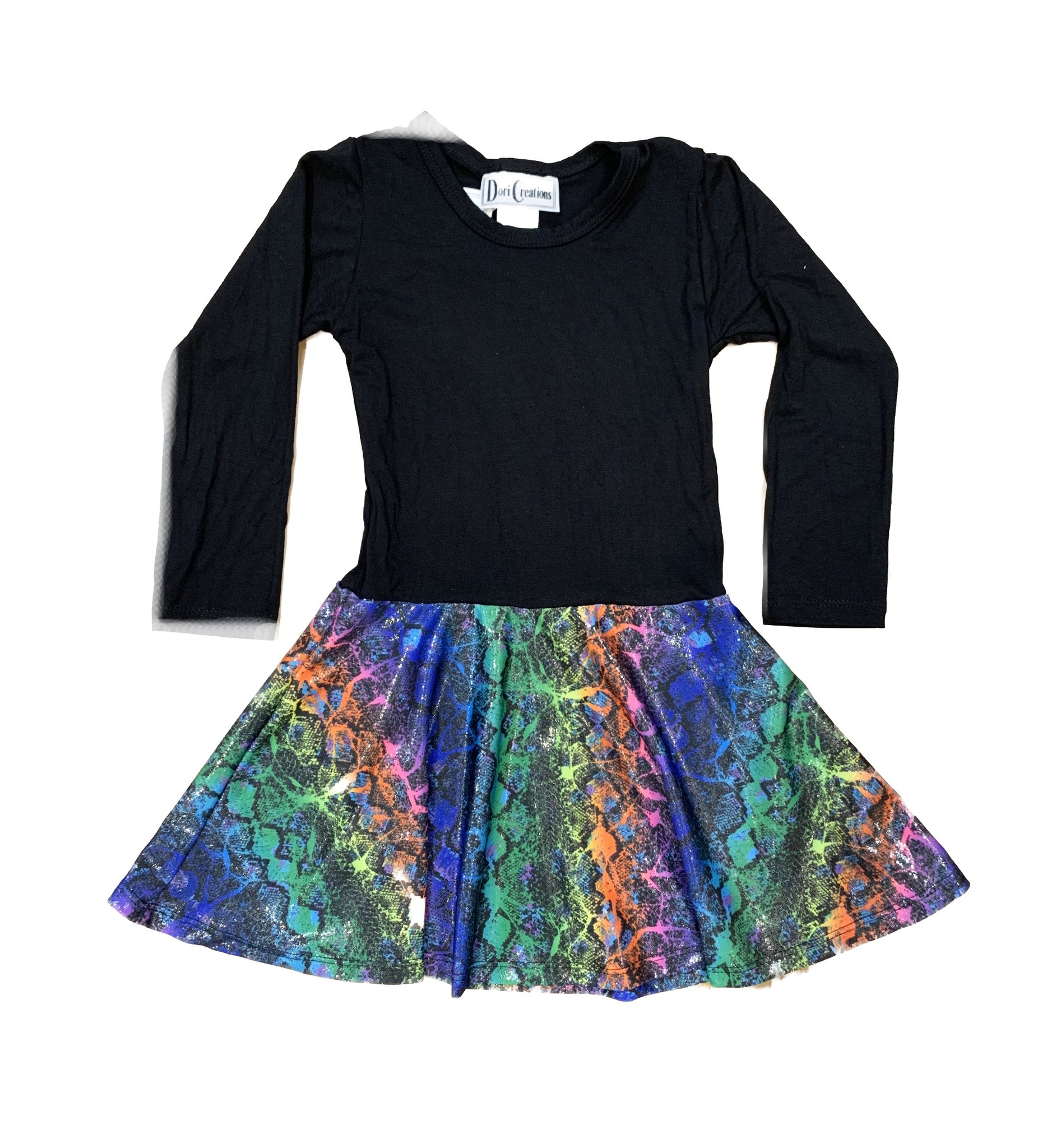 Dori Creations Glitter Snake Dress