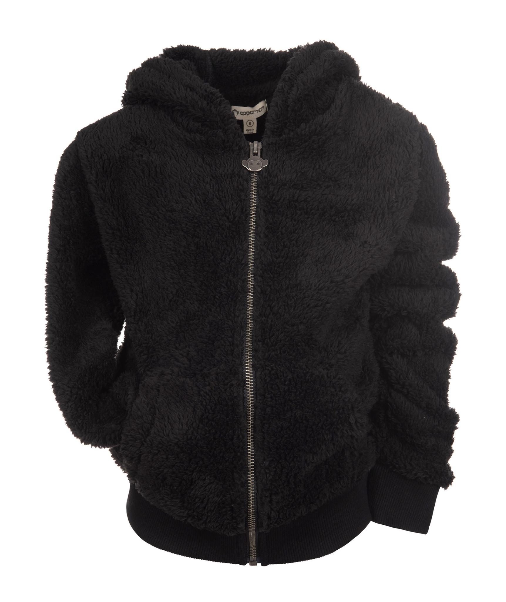Appaman Black Fuzzy Infant Jacket