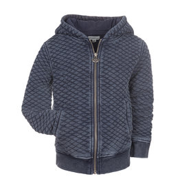 Appaman Quilted Denim Knit Empire Hoodie