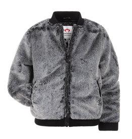 Appaman Grey Fur Nikki Bomber Jacket