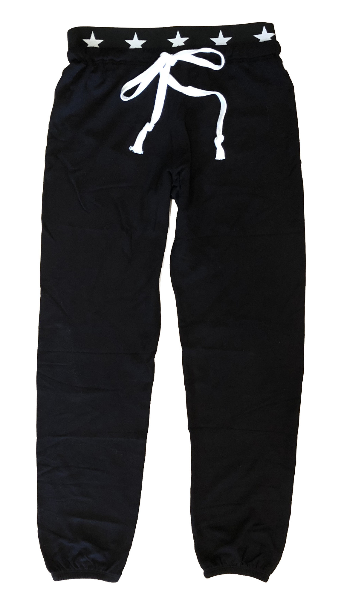 Katie J Supersoft Black Sweatpant with Star Waistband