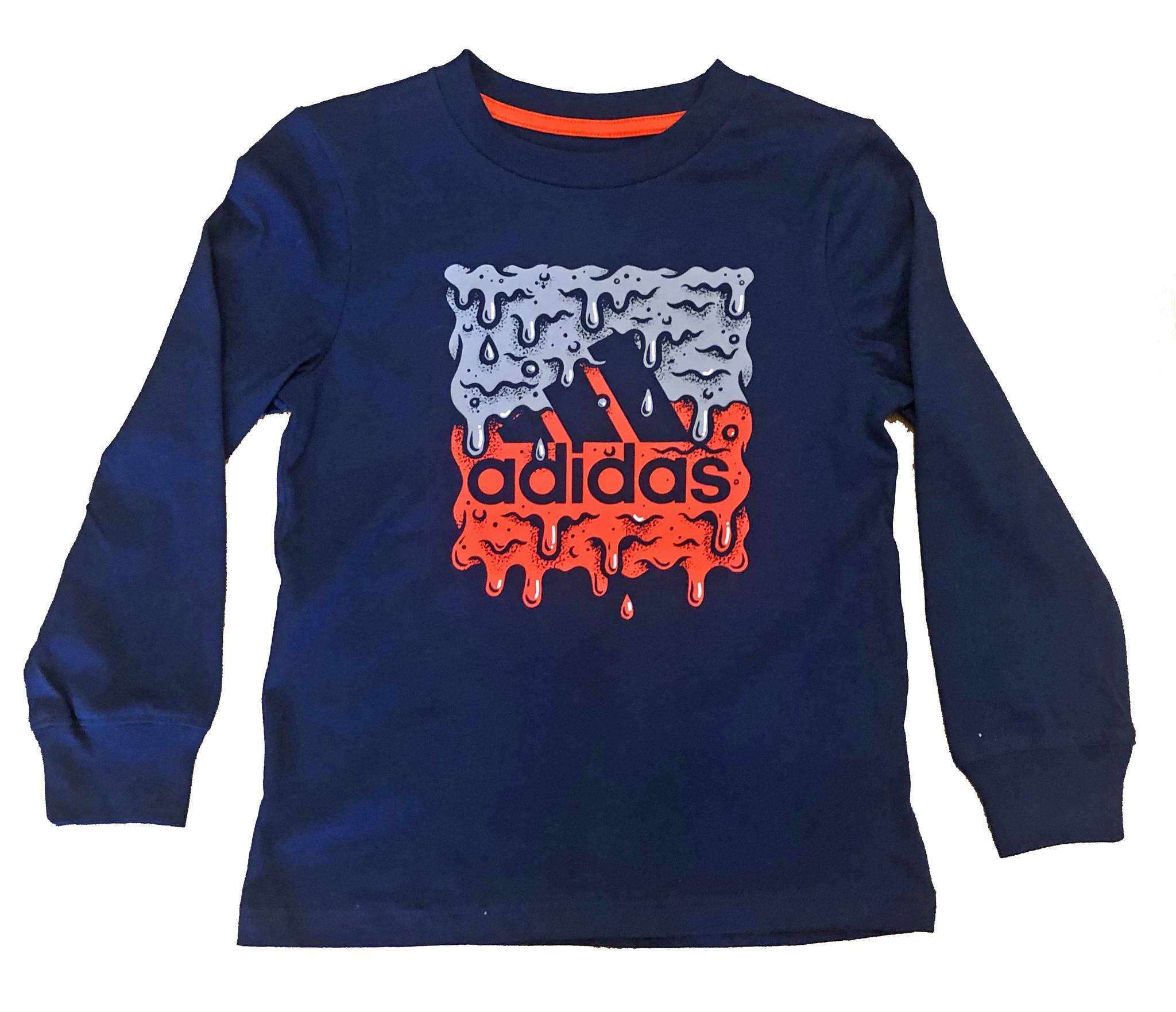 Adidas Navy Logo Drip Top