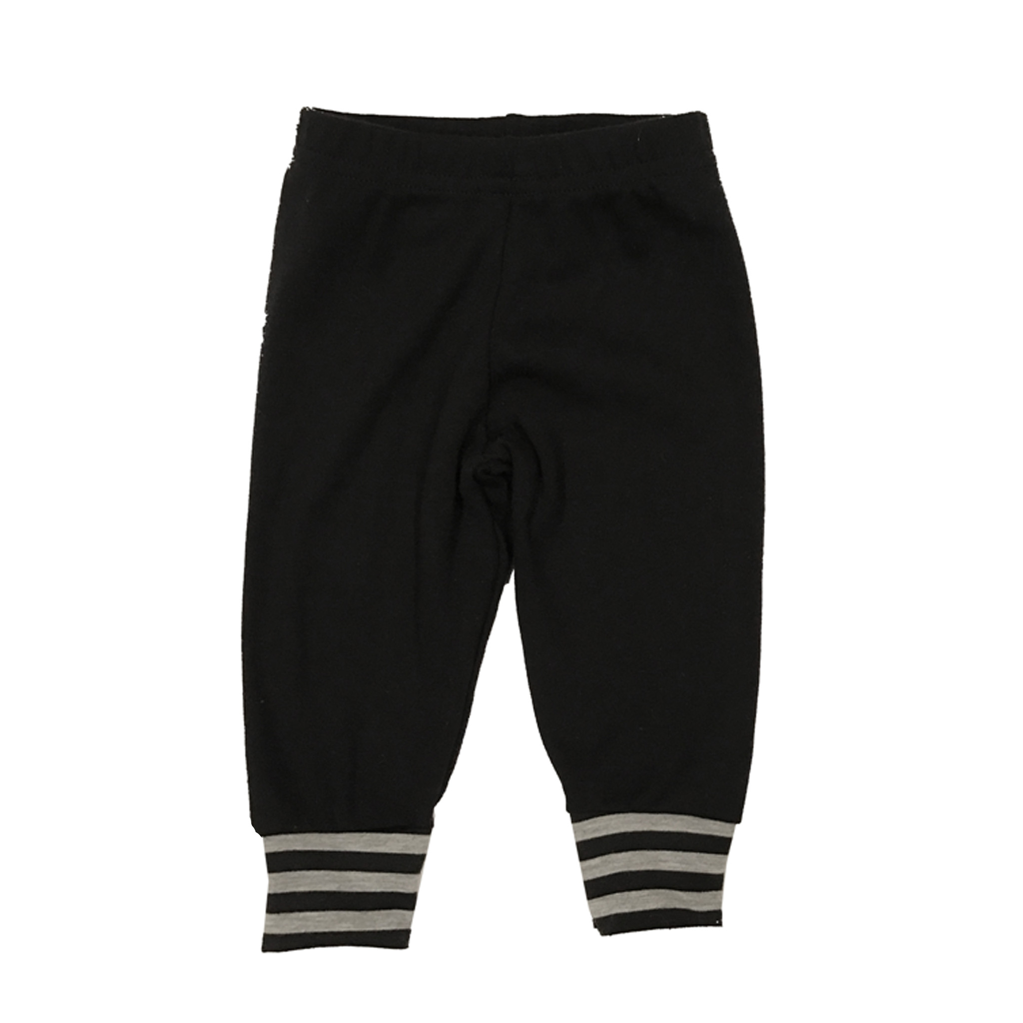 Small Change Black with Grey Stripe Cuff Pant