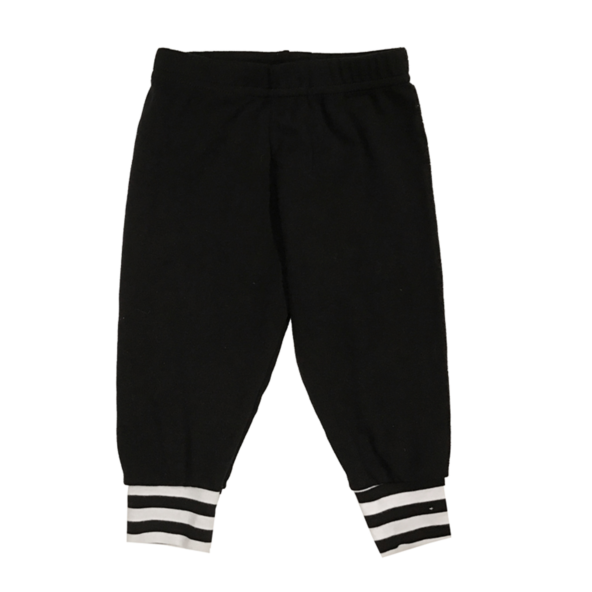 Small Change Black with White Stripe Cuff Pant