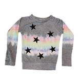 Firehouse Heather Grey Rainbow Stars Raglan Top