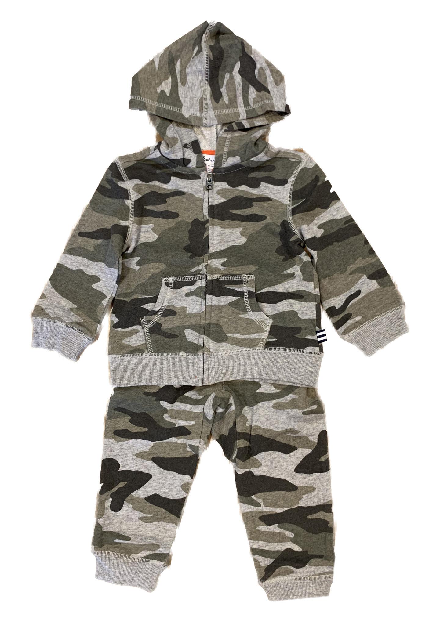 Splendid Green Camo Toddler Sweatsuit