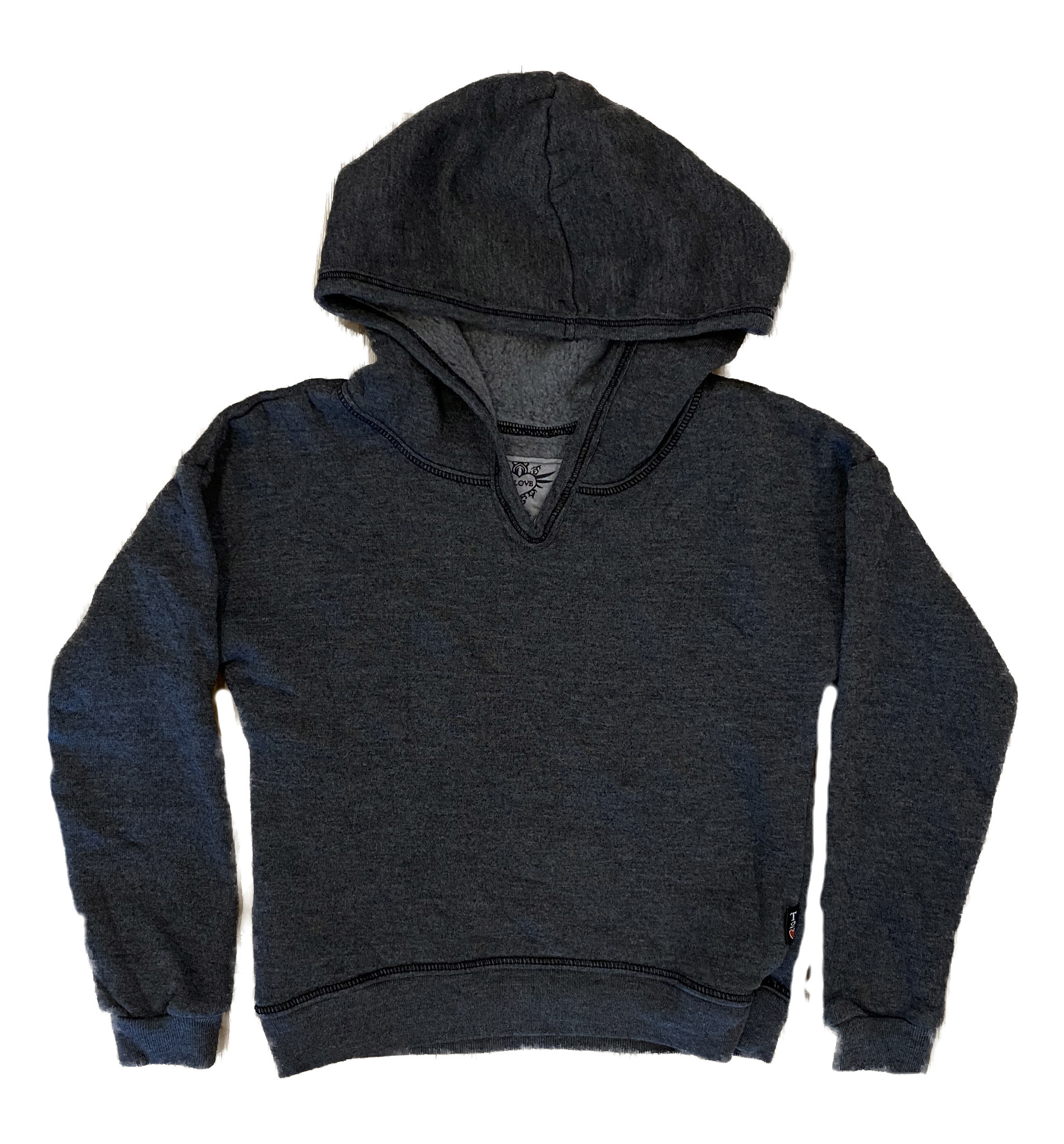 T2Love Charcoal Cropped Hooded Sweatshirt