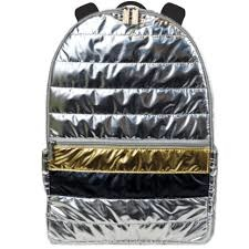 Iscream Silver & Gold Puffer Backpack