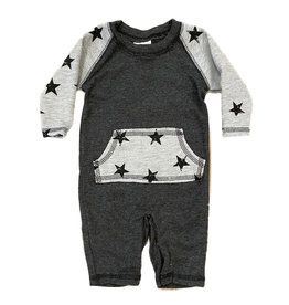 Too Sweet Charcoal Raglan Star Pocket Outfit