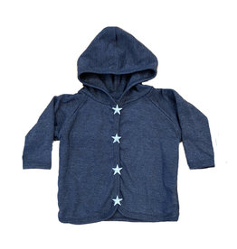 Too Sweet Denim with Lt Blue Stars Hooded Jacket