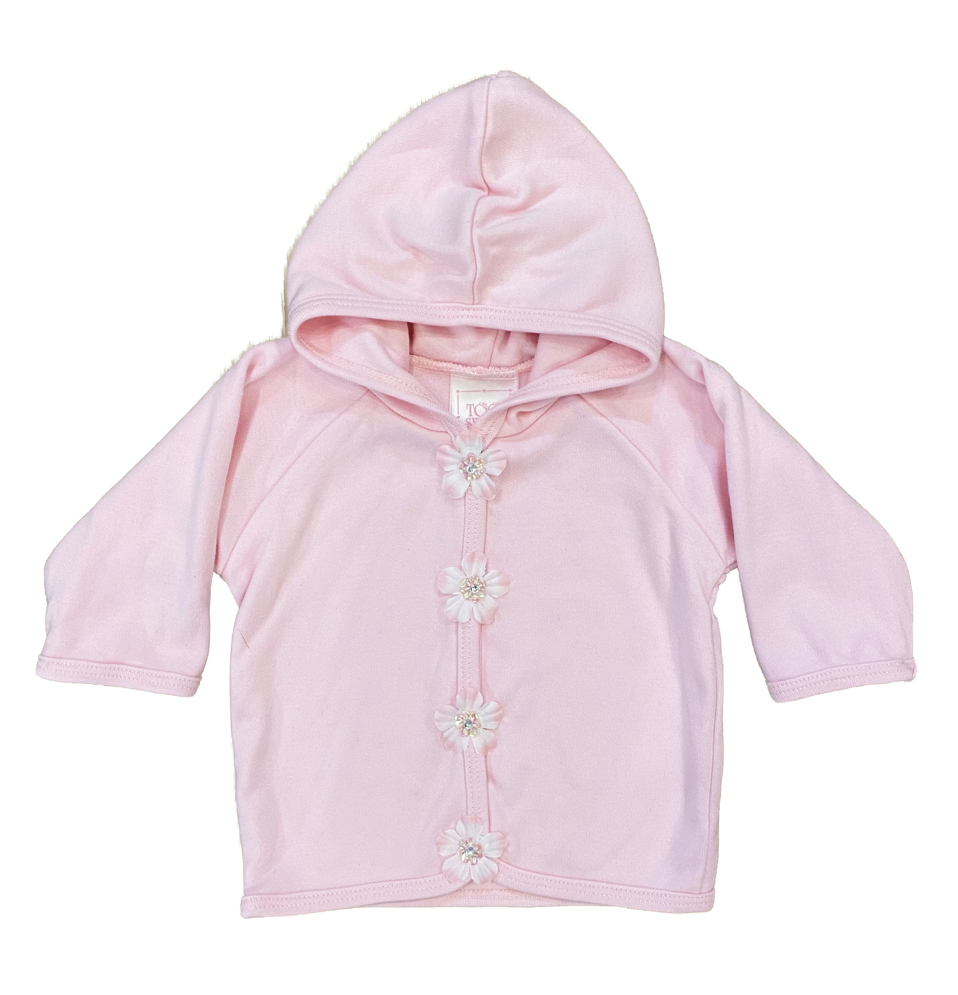 Too Sweet Pink with New Flowers Hooded Jacket