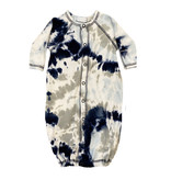 Baby Steps Navy/Grey Tie Dye Converter Gown